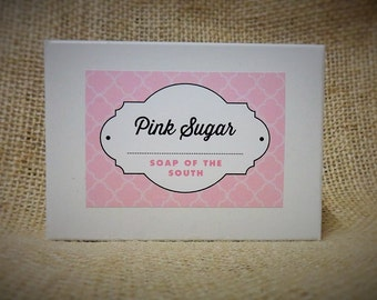 Pink Sugar Shea Butter Soap Bar