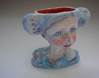 It Comes in Waves ceramic cup by artist Victoria Rose Martin