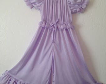 Princess Jammies - Lavender w/Lavender Lace - Toddler and Girls Sized Tricot Pajamas - Pick A Color!