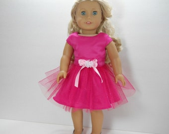 18 inch doll clothes,  Pink Party Dress, 01-1804