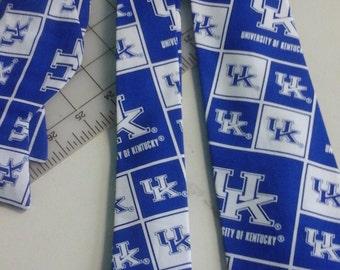 University of Kentucky Wildcats Neckties in bow tie, skinny tie, and standard tie styles, kids or adult sizes