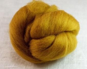 Merino Wool Top 100%, Needle Felting Wool, Wool Roving, Hand Spinning, Wheat Field Yellow, Merino Wool Felt, Soft Merino Wool, mw71