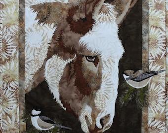 Matilda Donkey Toni Whitney Applique Bigfork Bay Quilt Pattern + Fabric Kit