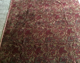 Upholstry Fabric 2 yd x 54 NEW condition Gold Red woven Tuscany colors
