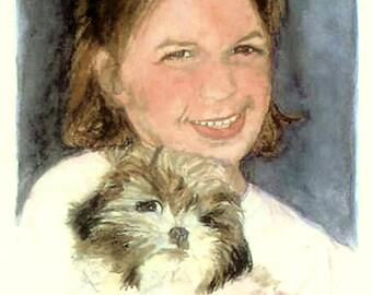 Pet Portraits, Custom Pet Portraits, Portrait of Beloved Pet, Unique Gift for Pet Lover