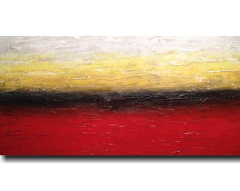 Original Large wall art for sale oil painting abstract paintings by jmjartstudio 24 x 48  red   birthday gift artwork