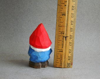 Wood carved Garden Gnome