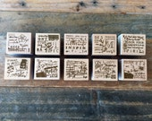 """New-Beautiful Japanese Wooden Rubber Stamp from Chamil Garden / Little Path  Vol. 2 - """"Flora"""" Series for invitation, card making"""