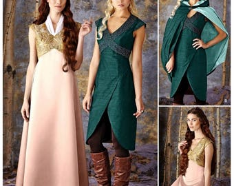 Princess Warrior Costume Pattern, Fantasy Costume Pattern, Cosplay Costume Pattern, Simplicity Sewing Pattern 1008