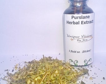 ON SALE Purslane Extract, 1 oz, herbal extract, herbal tincture, herbal remedy, natural remedy, Unique Visions by Jen