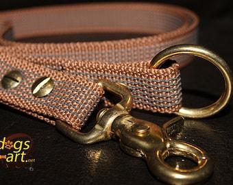 Dog Training Leash by dogs-art, grip it leash, non slip leash, brass dog leash, easy grip leash, sure grip leash, 4ft dog leash, dog leash