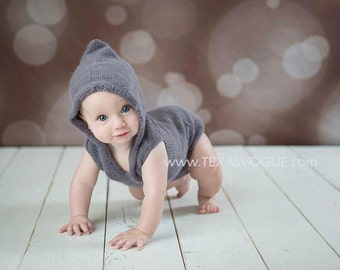 PDF Knitting Pattern - Knit Onesie Pattern - Sitter Sized Photo Prop Pattern