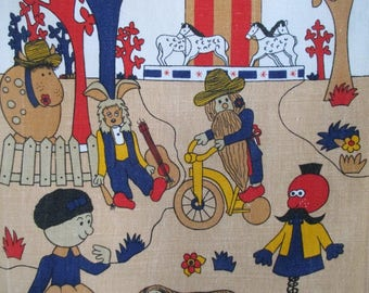 Irish Linen Tea Towel The Magic Roundabout BBC 1970's