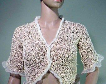 ELEGANT LOOSEKNIT BLOUSE - Wearable Fiber Art, Versatile & Trendy, Luxury Italian Yarn