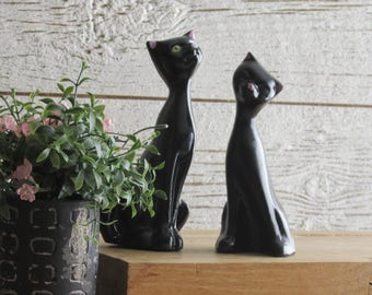 MCM - vintage home decor - quirky animals - Cats - 2 figurines - cat lover