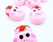 20 Miniature Polymer Clay Animal for Dollhouse and Beads Jewelry