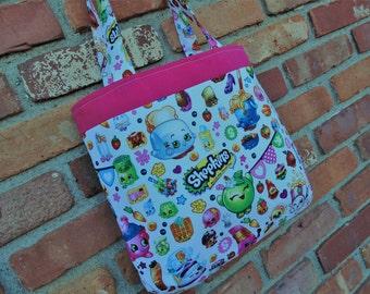 Shopkins Tote, Girls Tote Bag, Dance Bag, Doll Diaper Bag, Book Bag