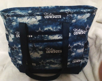 Dallas Cowboys Diaper Bag, Tote, Carry On, Book Bag