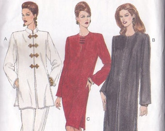 Misses Dress Tunic & Pants Pattern  ~ Very Easy Vogue Pattern Number 8867 ~ Nehru Collar  ~ Combination Sizes  14 - 16 - 18 ~ Factory Folded