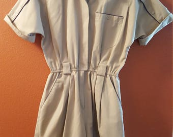 Vintage Military Inspired Khaki Romper by California Girl