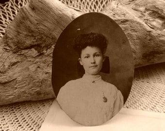 Vintage Photographs, Photo Lot, Oval Pictures, Ephemera, 4 pcs., Journaling, Scrapbooking, Victorian, Edwardian