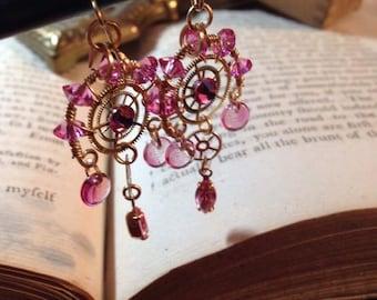 Fantastically Girly Steampunk Earrings