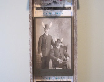 Mixed media assemblage, shadow box, 3D art, found objects