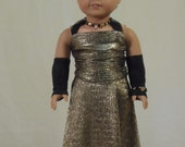 Gold Evening Gown for your American Girl doll