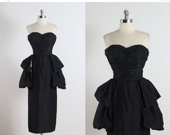 30% SALE Clifton Wilhite . vintage 1950s dress . vintage cocktail dress . 5174