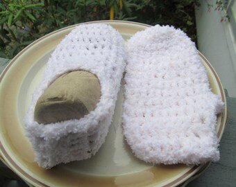 Soft Crocheted Slippers for Children by SuzannesStitches, Adult Handmade Slippers, Childrens Handmade Slippers, Crocheted Slippers, Slipper