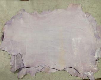 CA806.  Lilac Distressed Lambskin 6 square feet