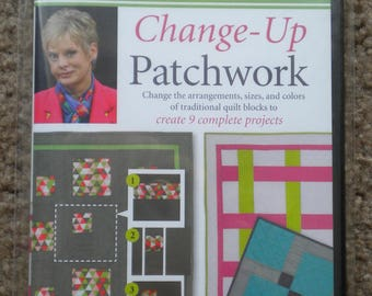 Quilting DVD Change-Up Patchwork Sewing with Nancy Changing Arrangements of Traditional Quilt Blocks