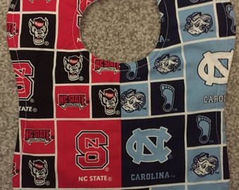 UNC University of North Carolina / NC State N.C. NCSU House Divided Rival College Football Baby Bib