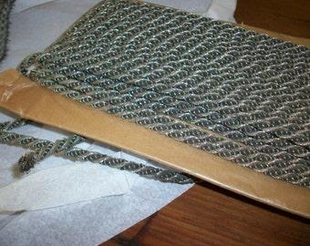 antique silver metal cording