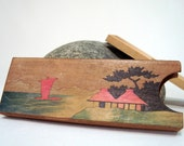 Disappearing Penny Wood Slider Box from Occupied Japan Vintage Trick
