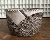 Yarn Bowl - The Desire To Create Is One Of The Deepest Yearnings Of The Human Soul - handmade by Molly Summers - Front Porch Pottery