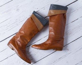 vintage Joan & David leather boots
