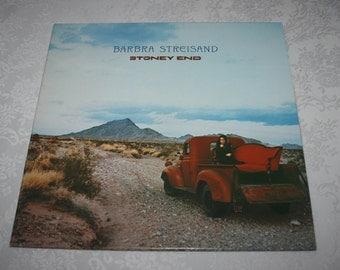 "Vintage 1970s Vinyl LP Record Album "" Barbra Streisand Stoney End "" Columbia Record"