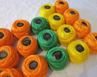 vintage DMC PEARL COTTON - your choice of color - size #5 53 yard balls - coton perle