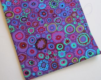 fat quarter - Kaffe Fassett PAPERWEIGHT - PURPLE - 100% cotton