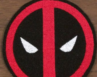 Deadpool inspired emblem embroidered iron on patch