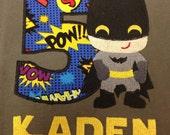 Bat Boy Birthday Shirt, Batman