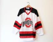 Vintage Ohio State University Hockey Jersey T Shirt