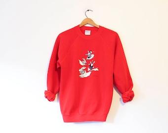 Vintage Snow Ski Bunny Christmas Holiday Sweatshirt