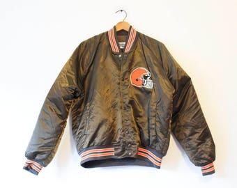 Vintage Cleveland Browns Football Satin Coat Jacket