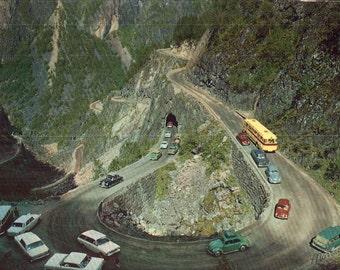 Norway Mabodal Valley and the Eidfjord Fossli Gello Road Photo Postcard, Unused