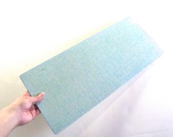 Aqua Blue Hotplate, Long Vintage Pro Tex Counter Protector Pad (A2)