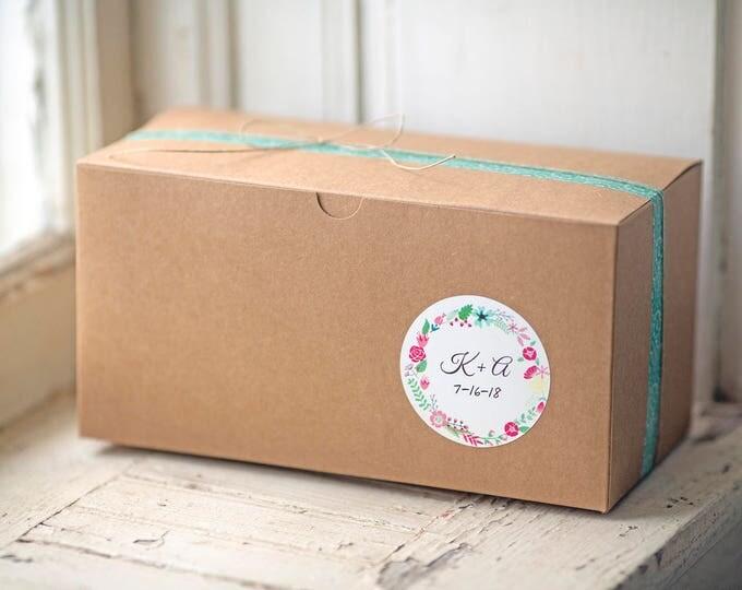 Kraft Gift Boxes- 9x4.5x4.5 inch-- Set of 5