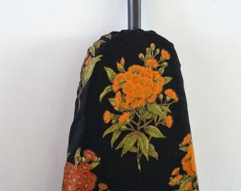 Ironing Board Cover - Australian wattle wildflower red and orange on black