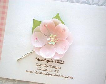 Flower Hair Pin - Pink Flower Hair Pin - Flower Bobby Pin - Hair Pins - Flower Hair Clip